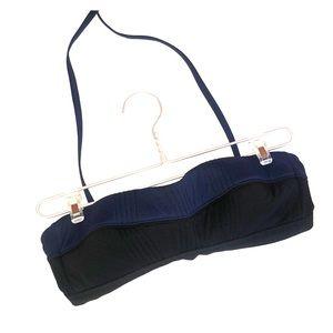 Athleta strapless navy/black swimsuit top - S